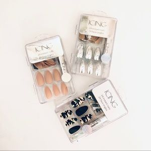 ICING PRESSED ON ACRYLIC NAILS SET (3)
